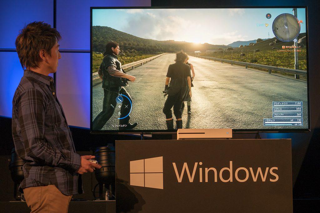 4K HDRに対応したゲームコンソール「Xbox One S」のデモ