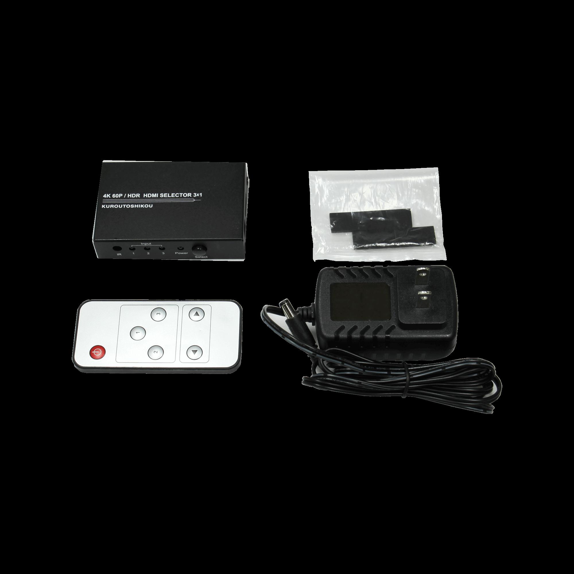 KRSW-HDR318RA パッケージ内容