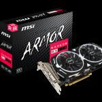 MSI、リファレンスモデルより高速なコアクロック動作を可能とした「RADEON RX 570 ARMOR 8G OC」を発売