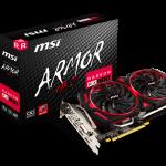 MSI、AMD RADEON RX 580のオーバークロックモデル「RADEON RX 580 ARMOR MK2 8G OC」を発売