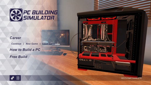 PC Building Simulator タイトル画面