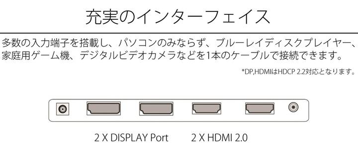 JN-IPS3200UHDR インターフェース