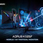 GIGABYTE、240Hz/0.5msのゲーミング液晶「AORUS KD25F」を発表