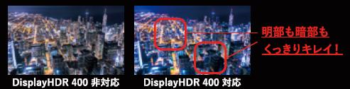 DisplayHDR 400規格対応