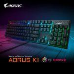 ギガバイト、CHERRY赤軸採用のキーボード「AORUS K1」を発表