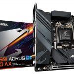 GIGABYTE、Mini-ITXマザーボード「B560I AORUS PRO AX」とDDR4メモリ「AORUS RGB Memory 16GB (2x8GB) 3733MHz」を4月23日(金)より発売