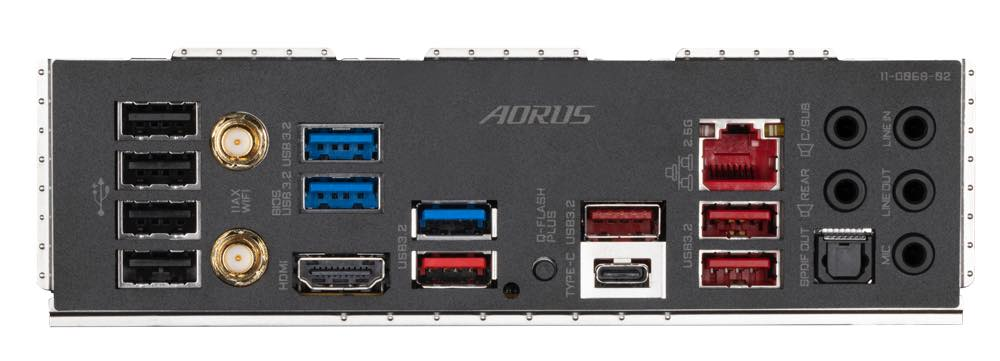 X570S AORUS PRO AX Back panel